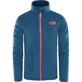 The North Face Snow Quest Full Zip Roundneck Jacket Youth Blue Wing Teal